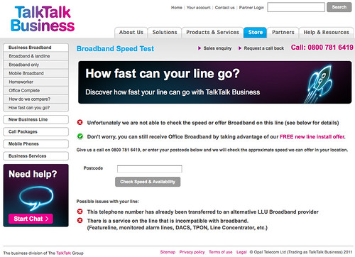 TalkTalk retardation