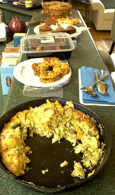 frittata on the counter