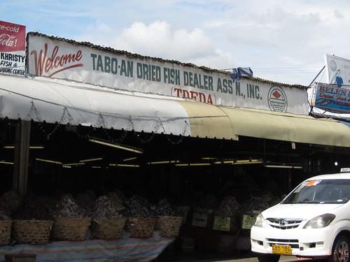 Outside Taboan Dried Fish Market