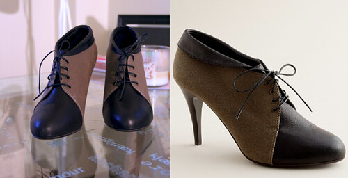 Noelle canvas and leather lace-up booties