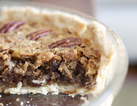 "Coconut Pecan ""Why Not"" Pie with Walnuts and Toffee"