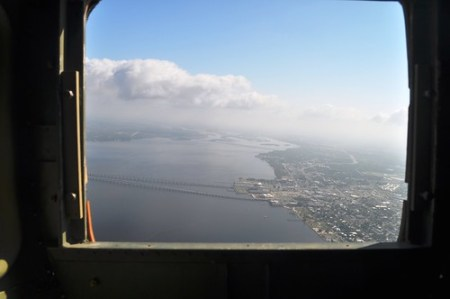 View from Back of DAV's B-25 Bomber, Panchito