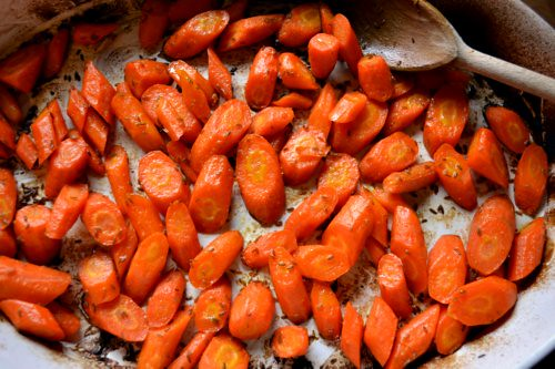 Chicken Masala and Cumin-Roasted Carrots