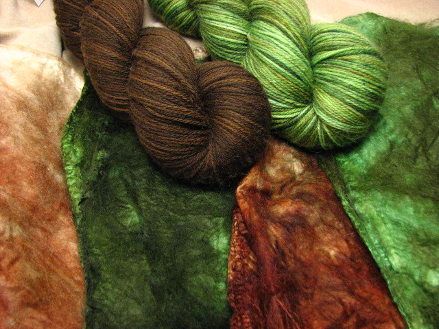 Silk Hankies and Tiger Cub Yarn