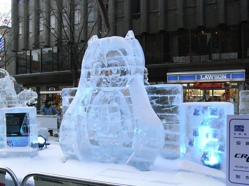 Snow Miku sculptures