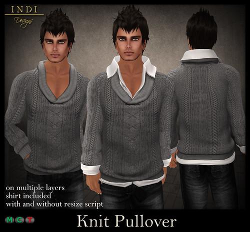 Knit-Pullover-grey