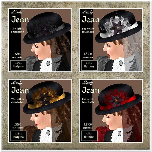 Hatpins - Lady Jean Bowler and Veil