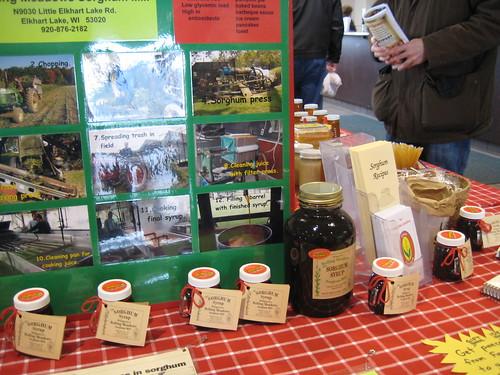 sorghum display at Winter Farmer's Market