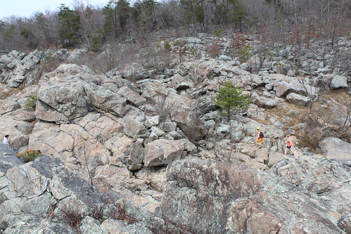 Billy Goat Trail - Hikers on Rocks