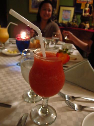strawberry shake at chef tatung's