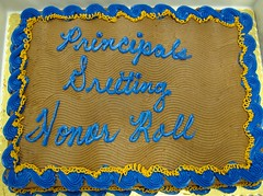 Principal's Reading Honor Roll cake