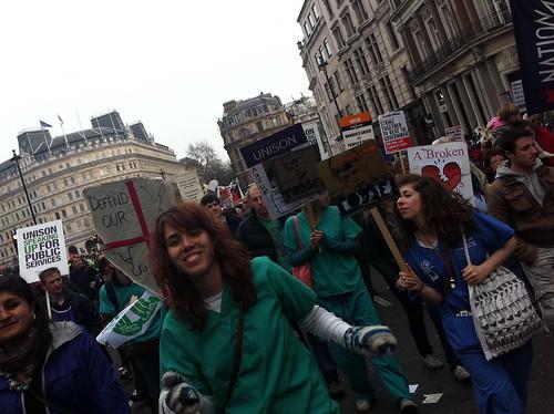 Medical workers dancing