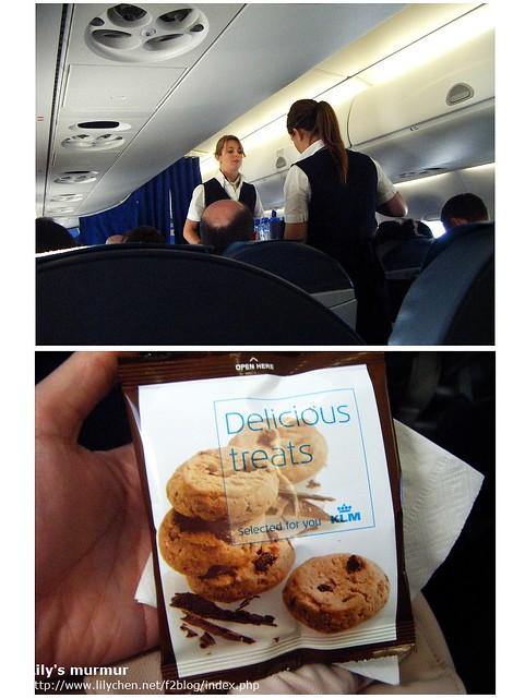 這次的機上點心很簡單,只有餅乾一包,當然飲料種類基本上還是差不多。