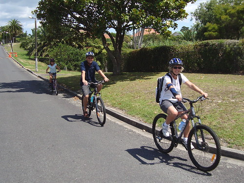 Family Cycling in Hobsonville