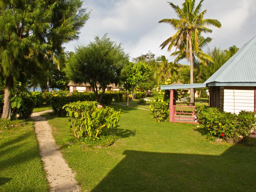 Nabua Lodge in morning light