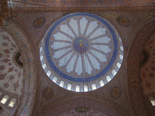 Interior of Blue Mosque Dome