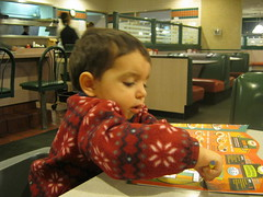 Nicholas coloring at Denny's