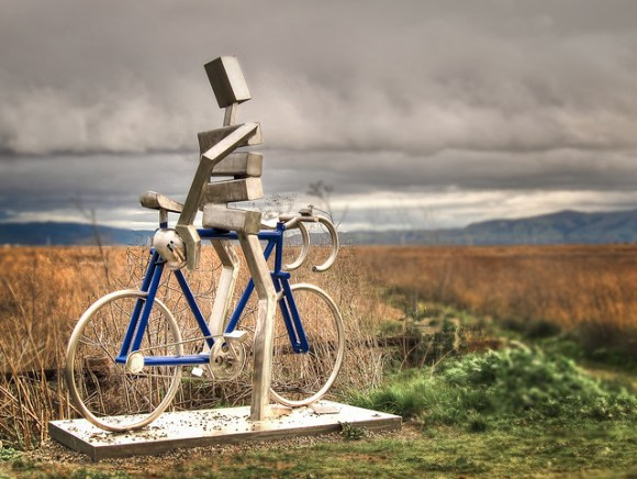 Bill Bliss Memorial Sculpture - Palo Alto Baylands (HDR)