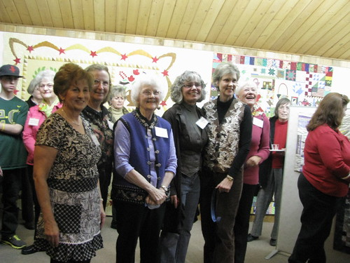 Some of  Journeys Art Quilt Group & Marilyn @QuiltWorks