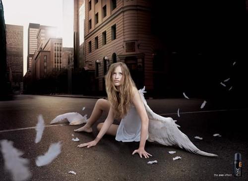 axe-deodorant-fallen-angel-print-ad by doodle_juice