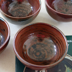 Set of four tenmoku bowls