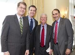 Steve Clemons, Gavin Newsom and David Axelrod