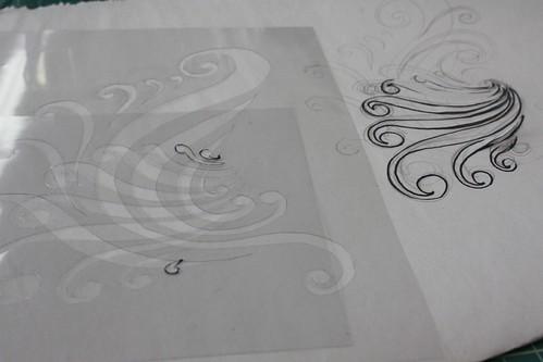 Fabric Stenciling workshop