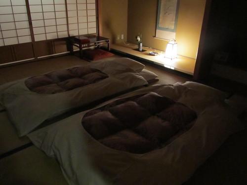 Futons on tatami