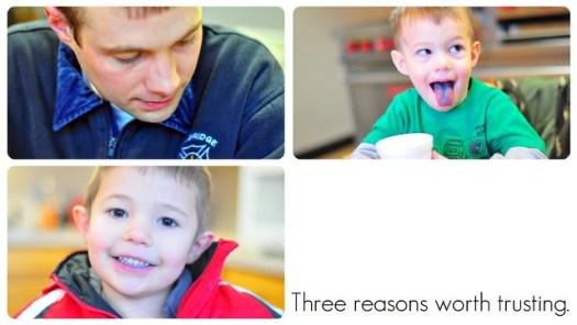 Three reasons worth trusting.