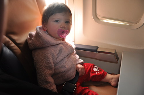 Her own seat on the plane!