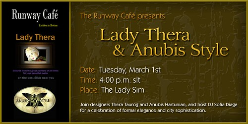 Lady Thera and Anubis Style at The Runway Cafe