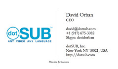 Business card for humans