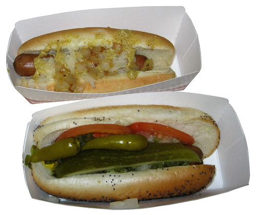 Sonic Premium Beef Hot Dogs Chicago Dog and New York Dog