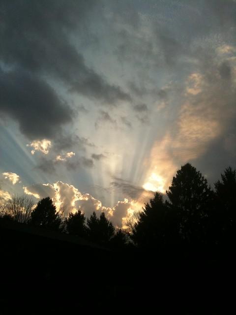 An East Tennessee evening sky