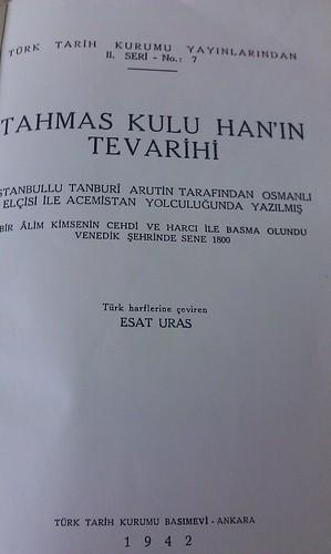 Tahmas Kulu Han'ın tevarihi