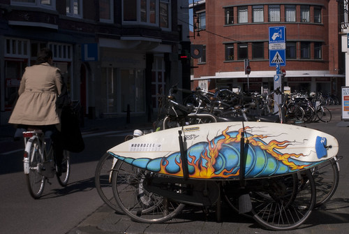 Surfboard on a bike!