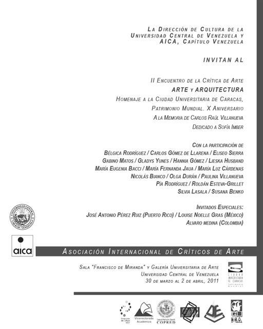 II Encuentro de la Crítica de Arte y Arquitectura