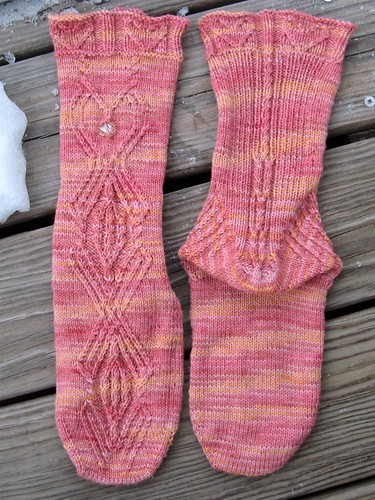 1482 Family Jewels Mystery Socks (front and back)