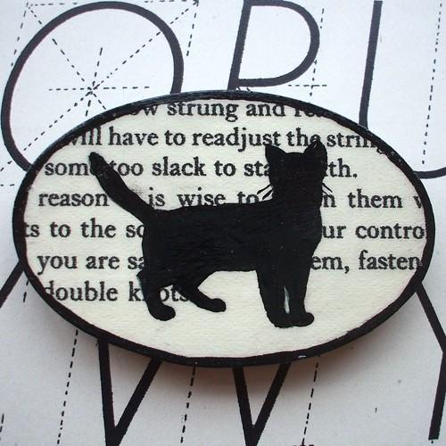 Brooch Cat Silhouette