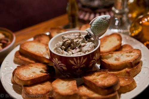 Crostini with Tuna Tapenade