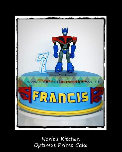 Norie's Kitchen - Optimus Prime Cake