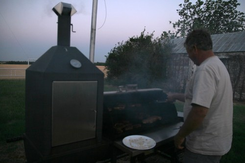 Chef Mike prepares the meat