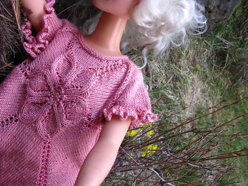 Seamless Flower Dress Test Knit Modeled