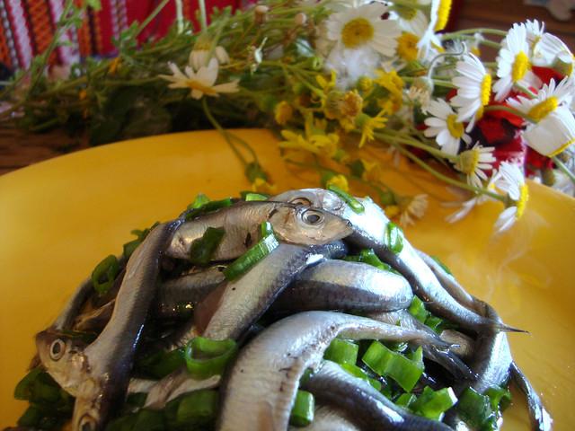 домашна маринована риба Перла