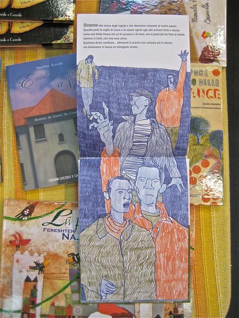 Il sapore amaro delle arance, di Sandro Natalini e Tommaso Nava. Edizioni Coccole e Caccole 2011, pag. interne