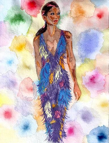 Glittering woman