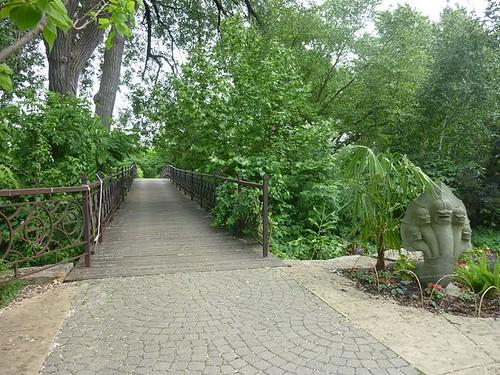 WI, Madison - Botanical Gardens 24 - Bridge to Thai Garden
