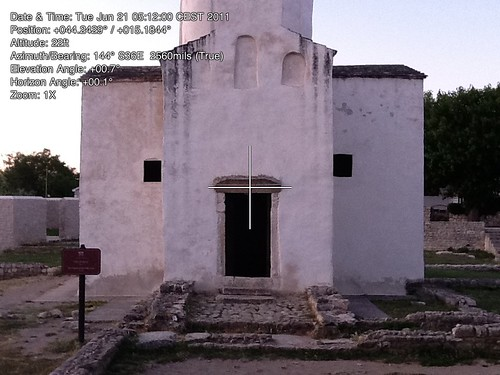 Theodolite measurements of the church