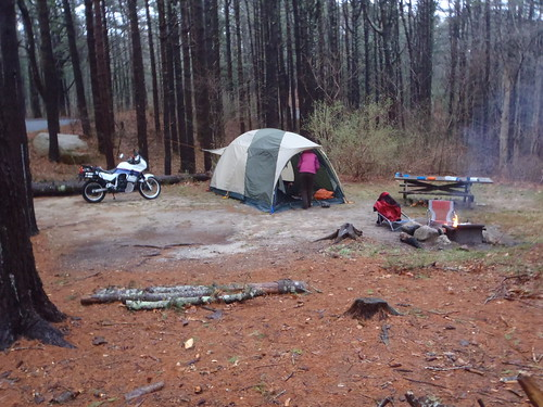 LL Bean King Pine Dome 4-person tent: it's huge but great for bad weather multi-day camping