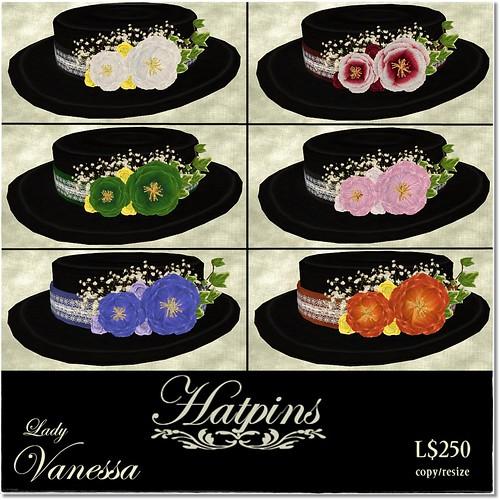 Hatpins - Lady Vanessa